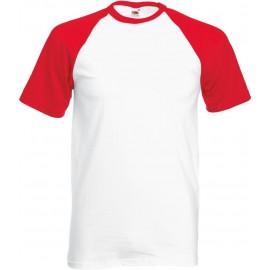 Fruit of the Loom | Baseball T | White & Red