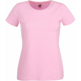 Fruit of the Loom | Lady-Fit Crew Neck T | Light Pink