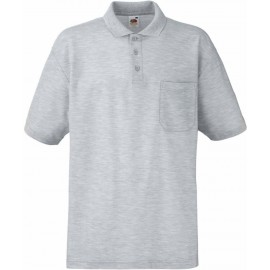 Fruit of the Loom | 65/35 Pocket Polo | Heather Grey