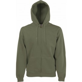 Fruit of the Loom | Classic Hooded Sweat Jacket | Classic Olive