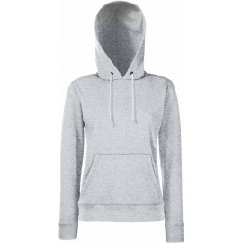 Fruit of the Loom | Classic Lady-Fit Hooded Sweat | Heather Grey