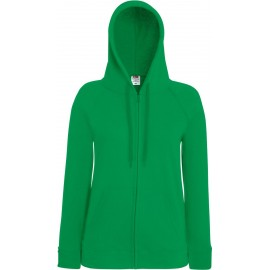 Fruit of the Loom | Lady-Fit LW Hooded Sweat Jacket | Kelly Green
