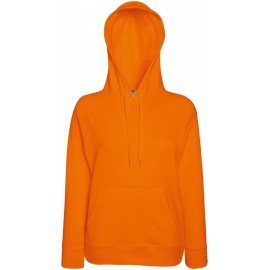 Fruit of the Loom | Lady-Fit Lightweight Hooded Sweat | Orange