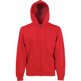 Fruit of the Loom | Zip Through Hooded Sweat | Red