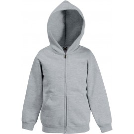Fruit of the Loom | Classic Kids Hooded Sweat Jacket | Heather Grey